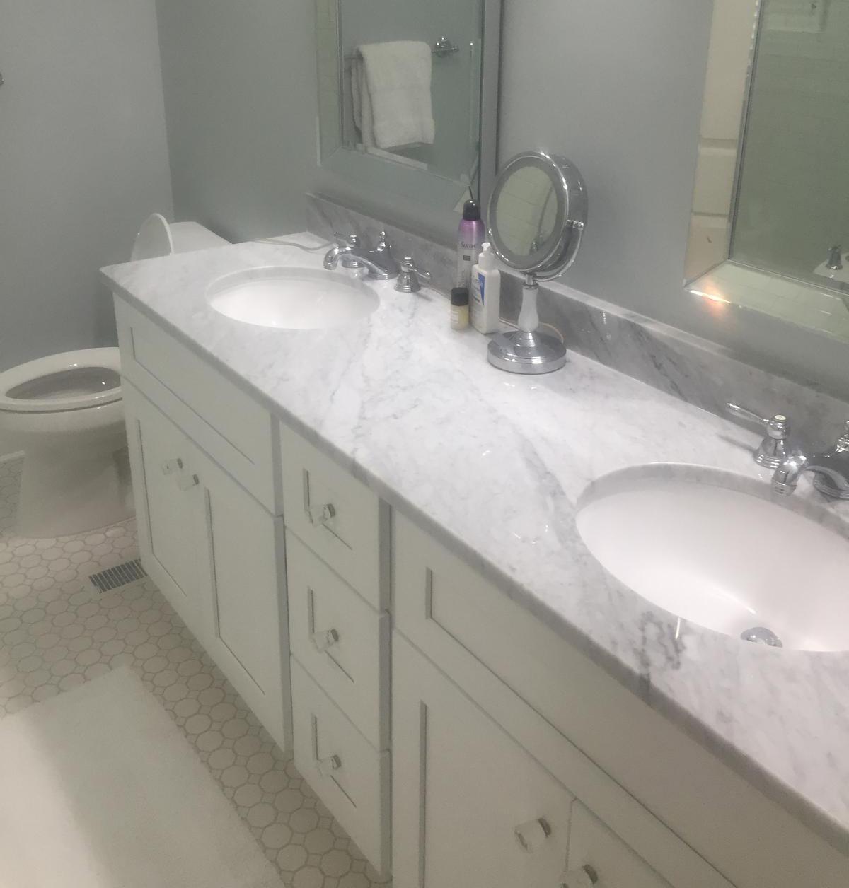 Lennox Shaker White bathroom in Charlotte, NC.
