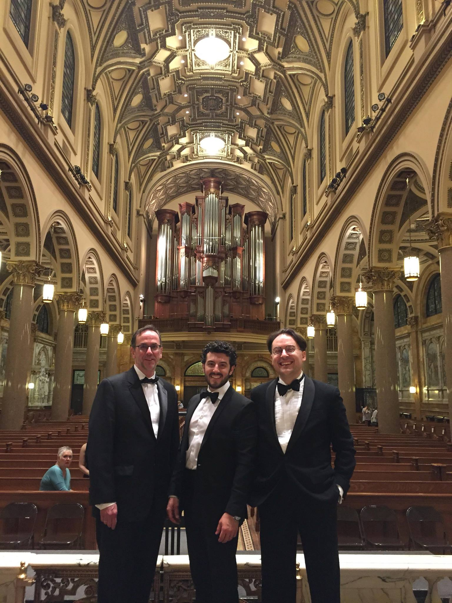 Trumpet Section after the concert. With Thomas Verchot and Chris Coletti