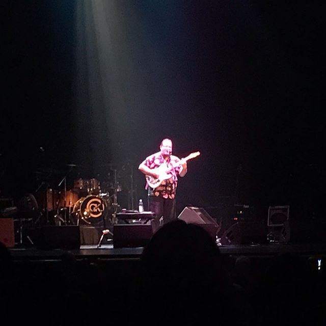 Here's a picture of my best customer on stage solo at the Beacon Theater playing a guitar I put together. Congrats to my brother Vilray