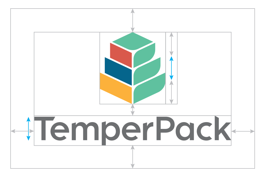 Logo V.2 - The logo design went through many iterations before landing on the current mark. The new logomark is an evolution of the original TemperPack mark - a leaf and box combined. We've added complexity to the mark while still retaining the brand's focus on packaging and sustainability.