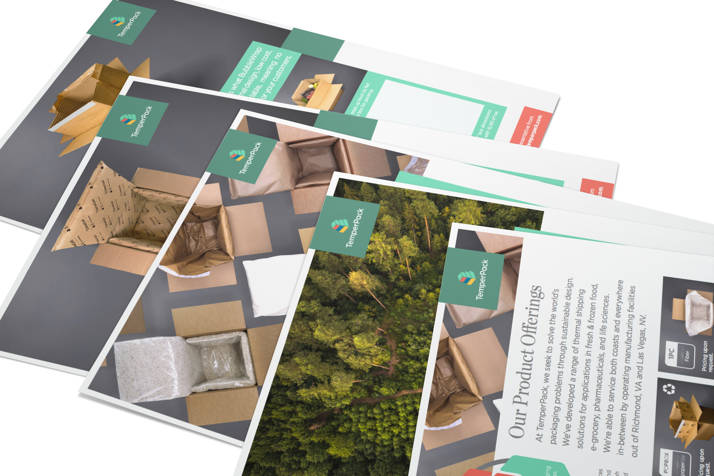 Sales Collateral - I then took the standards we developed and built out a tool-kit that our sales team could use to impress potential clients and close deals.
