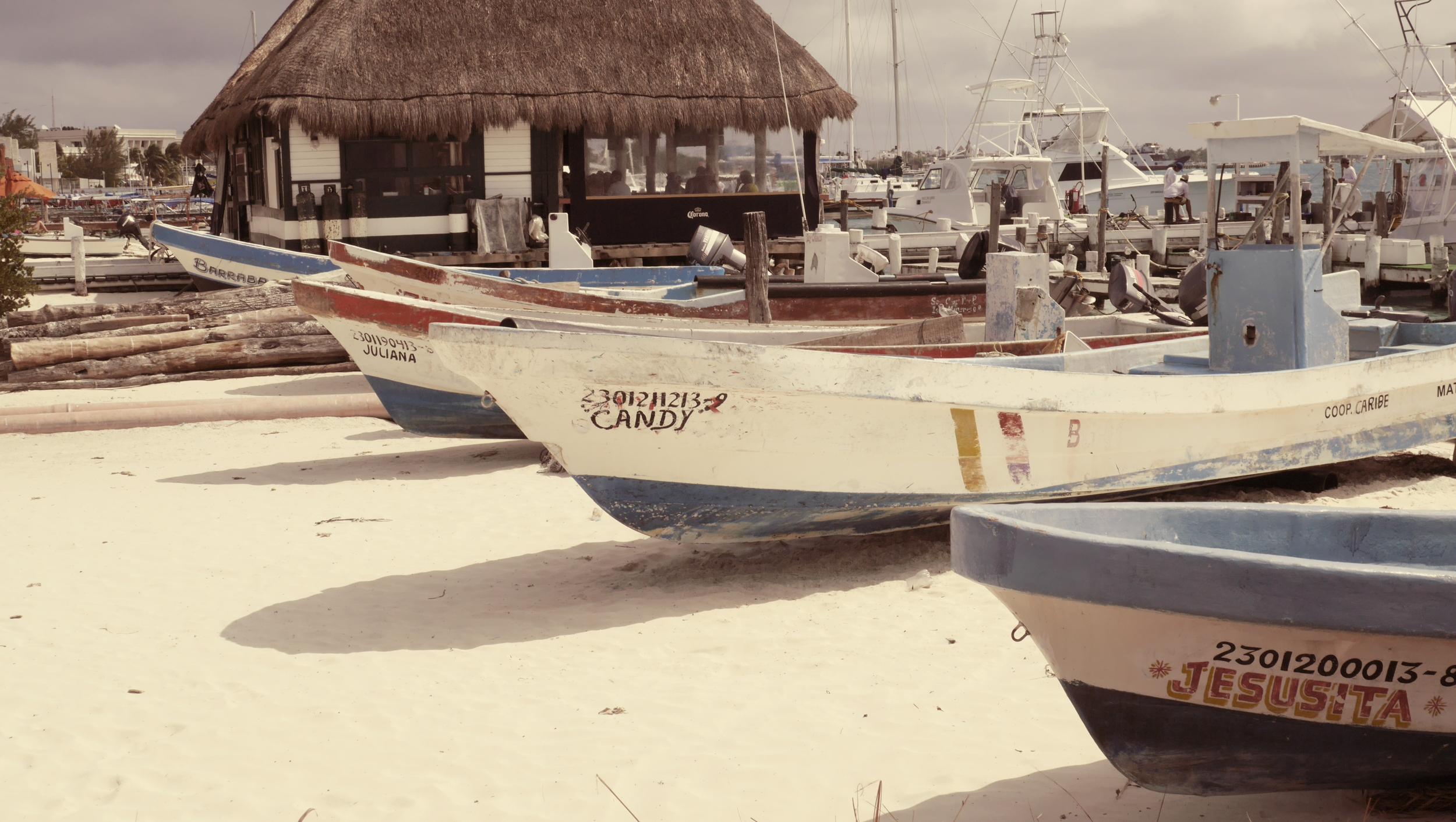Fishing Boats on Isla Mujeres  | Trillium Caterers, Belfast, Maine