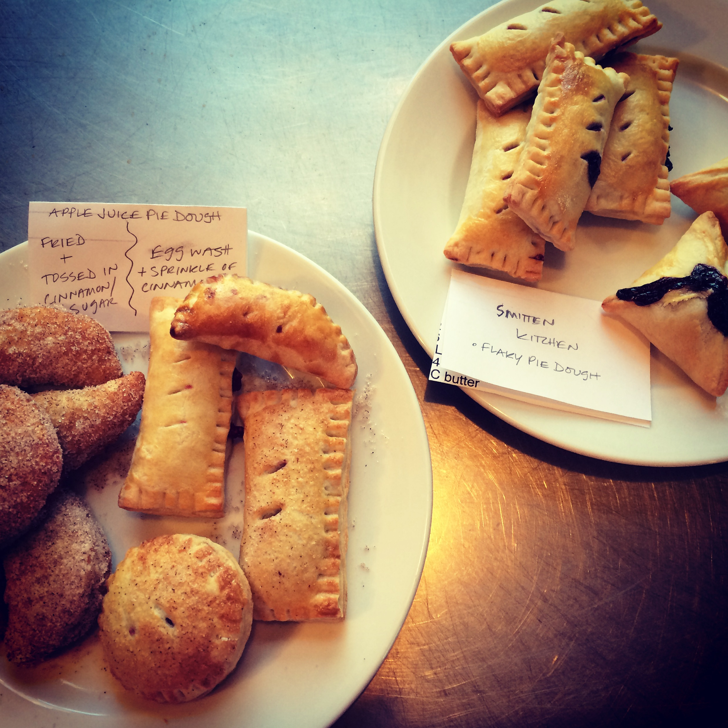 ALL THE HAND PIES (BTW, the fried ones were the best.)| Trillium Caterers, Belfast, Maine