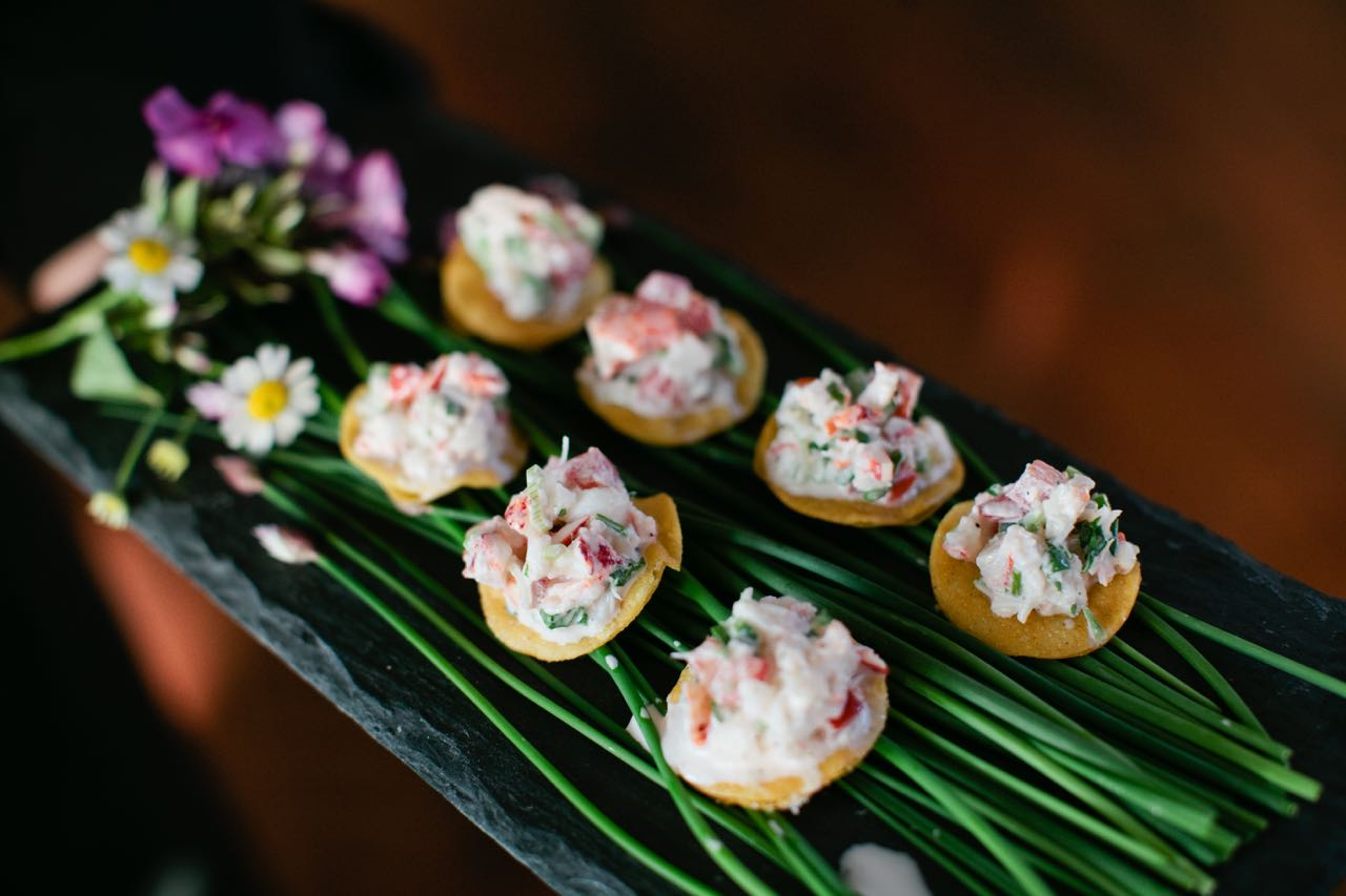 Lobster Tostada with Cilantro and Lime | Trillium Caterers