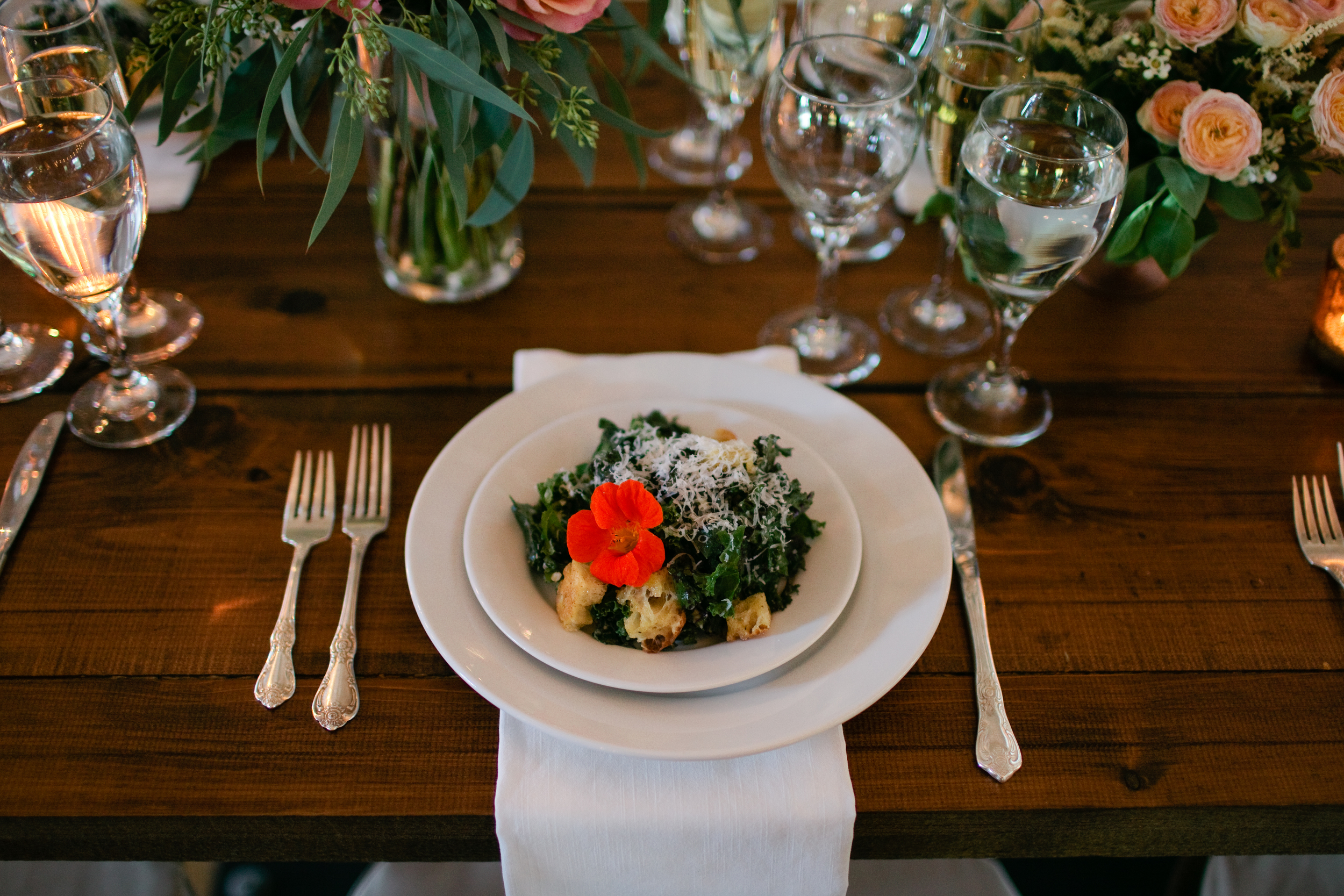 Kale Caesar with Olive Oil Croutons and Lemon  | Trillium Caterers