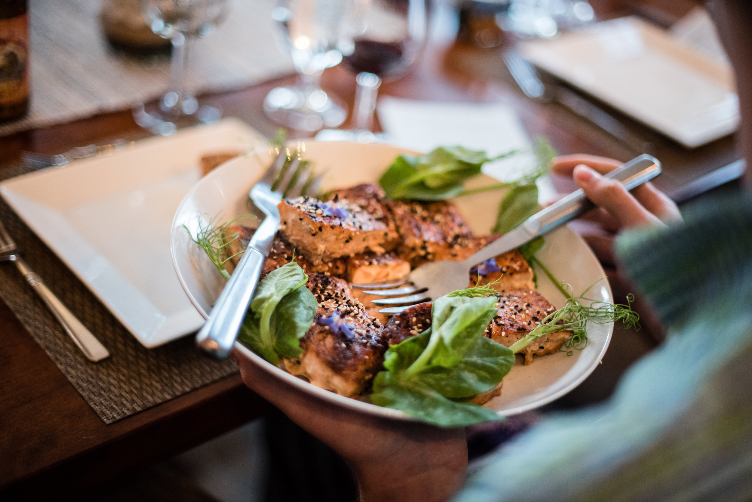 Maple Glazed Salmon with Ginger and Sesame    ©Melissa Mullen Photography