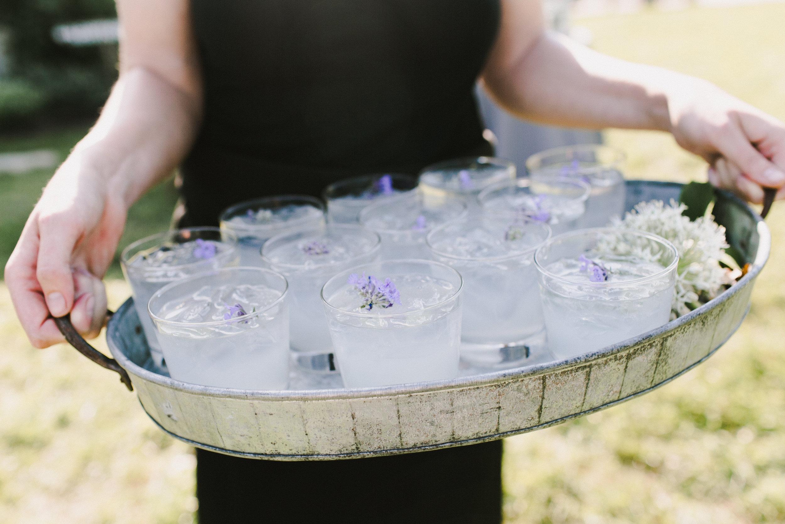 Lavender Lemonade Welcome Cocktails © Emily Delamater