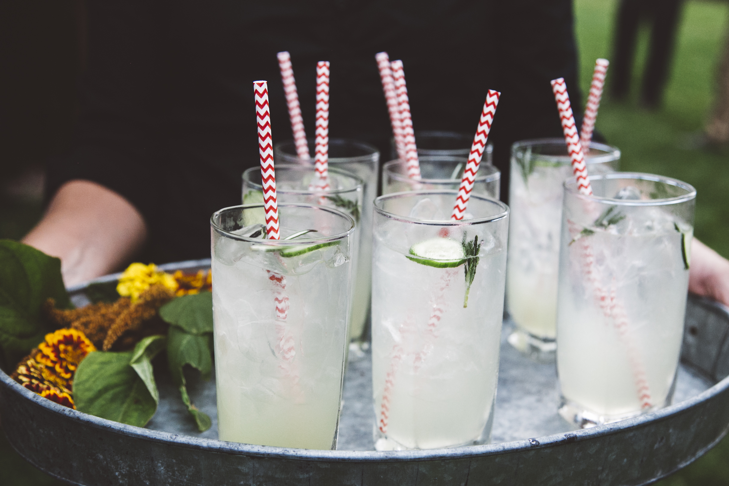 Cucumber-Rosemary Gin & Tonics © W  ylde Photography