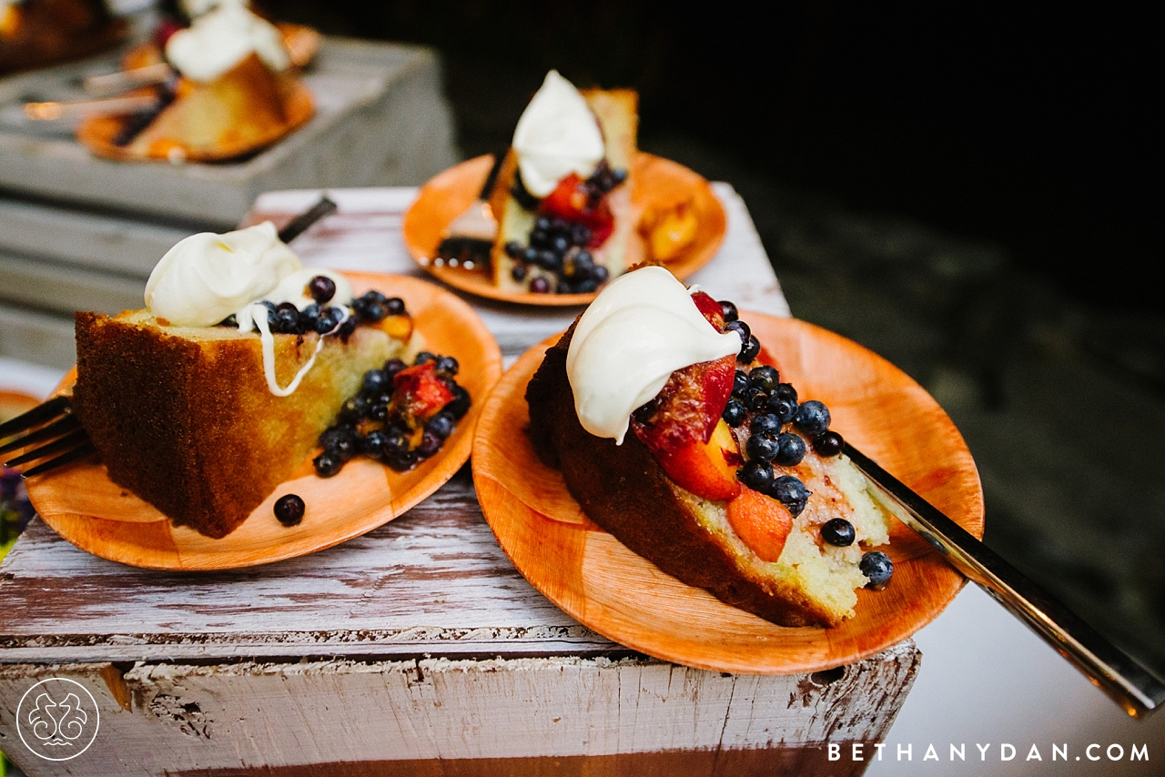 Buttermilk Cake with Peaches, Blueberries, and Brown Sugar Sea Salt Mascarpone  © Bethany & Dan Photography