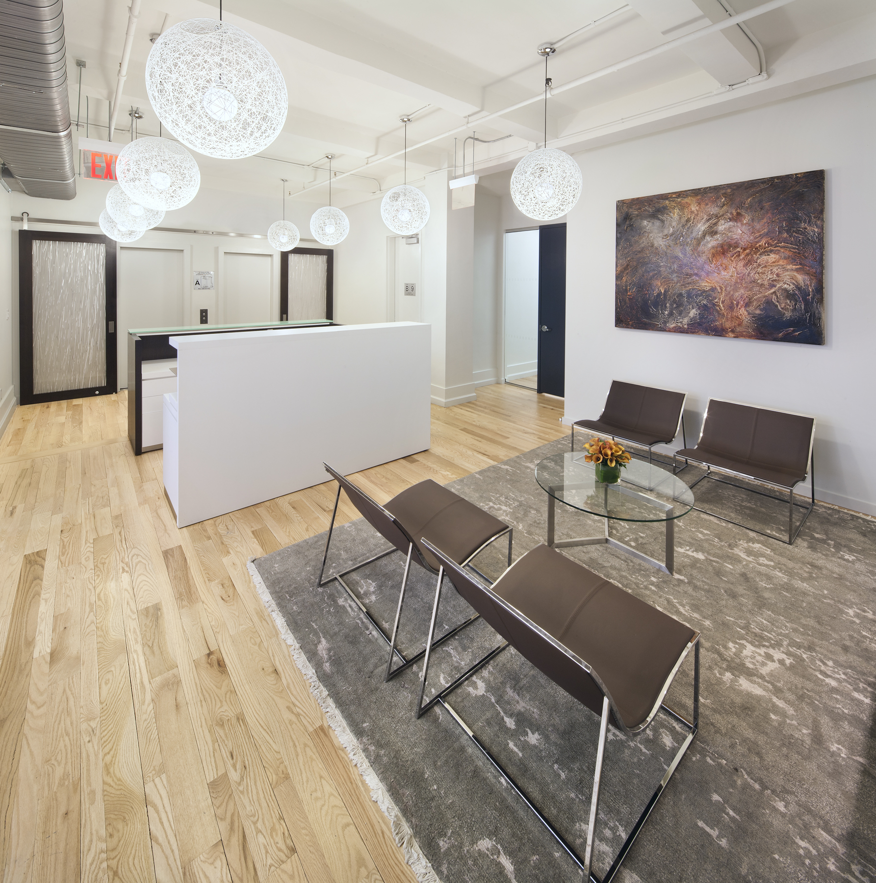 Tobin Parnes Design. NYC. Workplace Design. Reception Design.