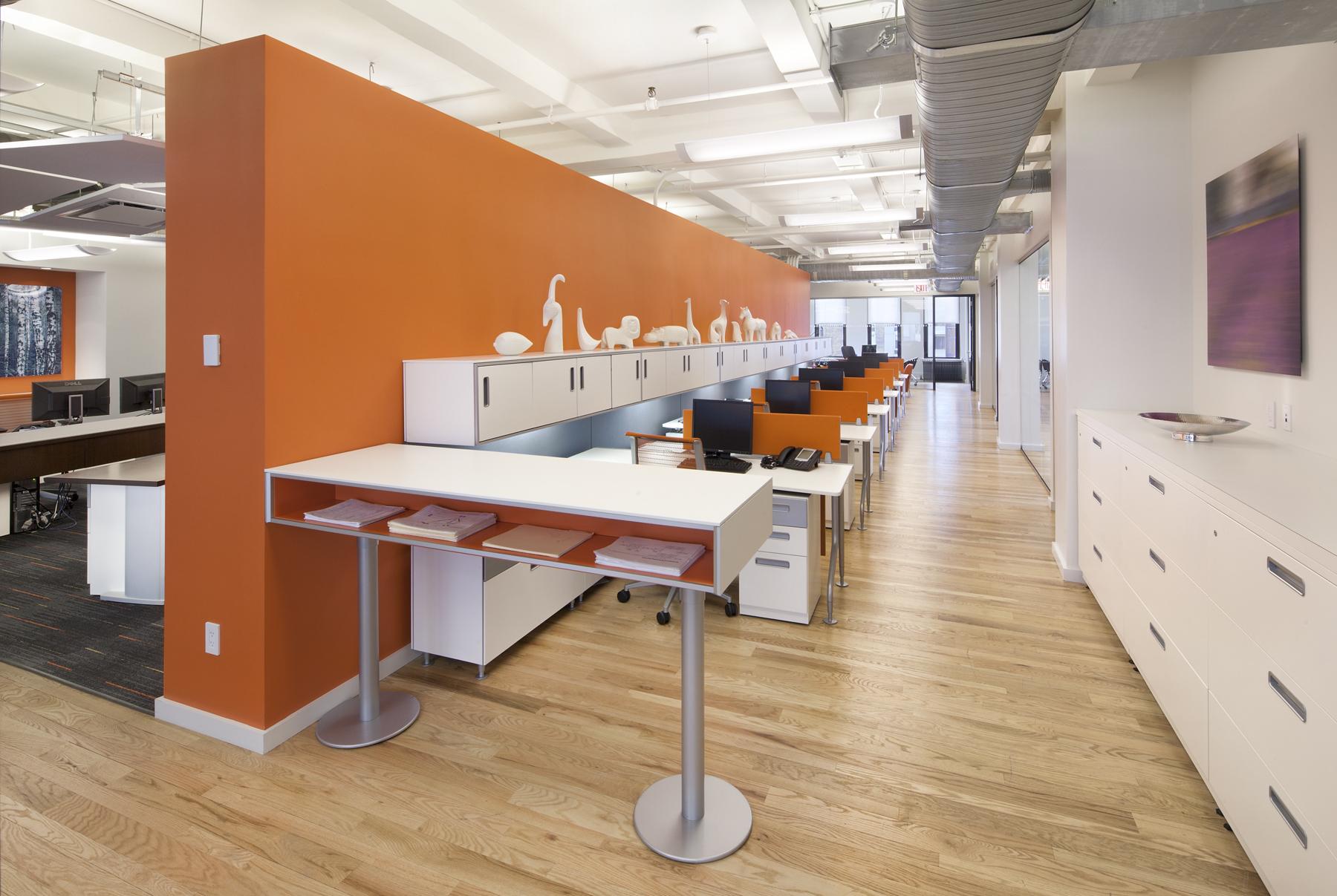 Tobin Parnes Design. NYC. Workplace Design. Office Design.