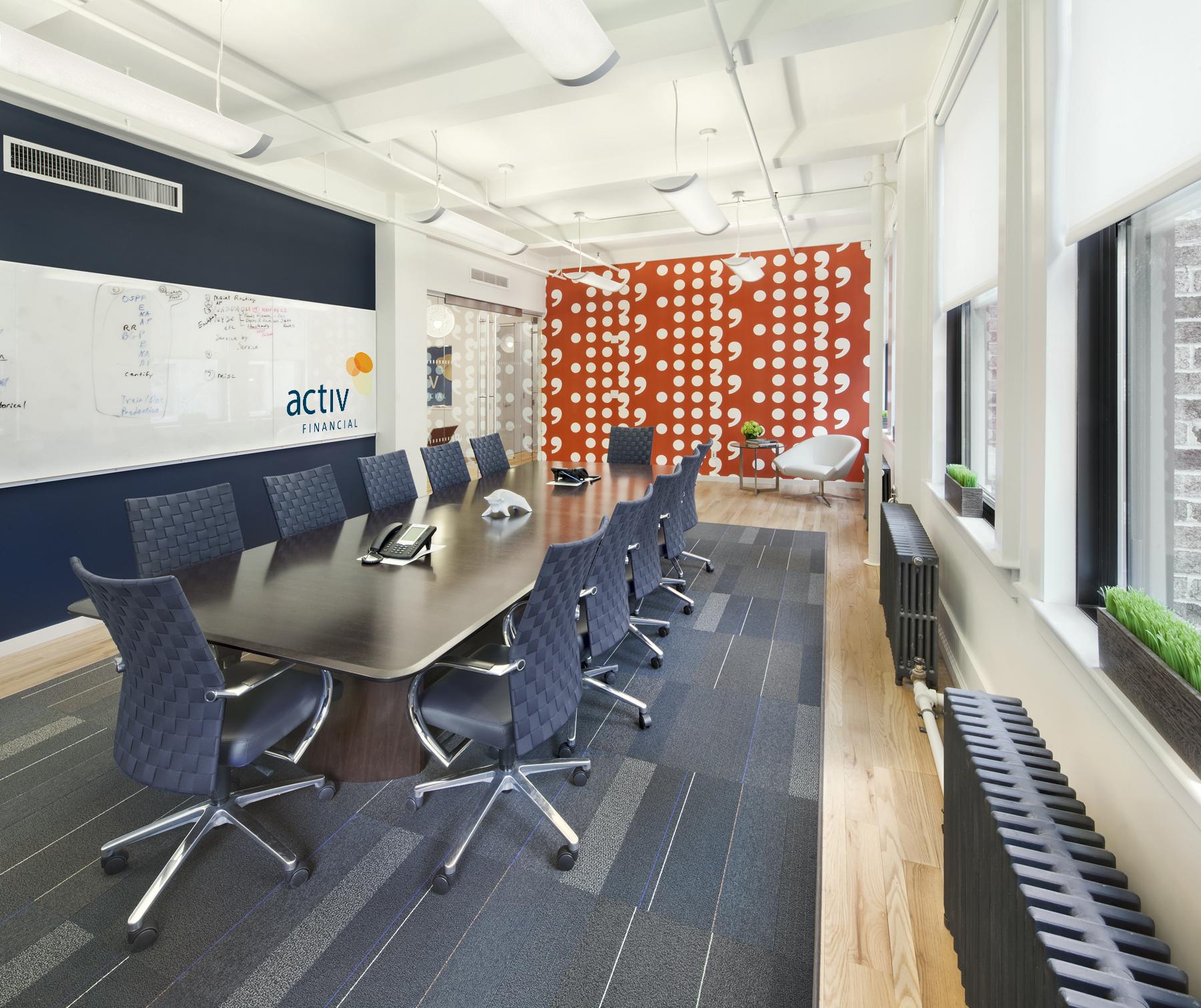 Tobin Parnes Design. NYC. Workplace Design. Conference Room Design.