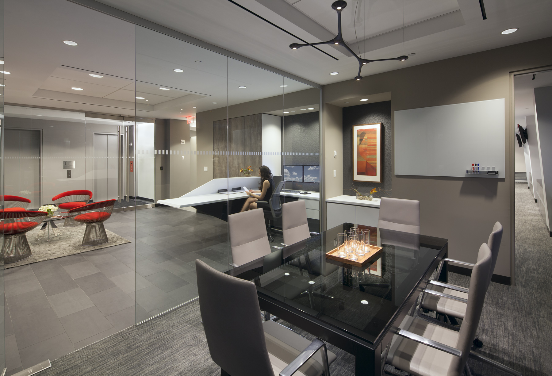 Tobin Parnes Design. NYC. Workplace. Reception Design. Conference Room Design.
