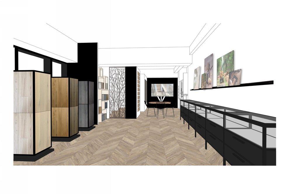 West Flooring Showroom Design Interior Design Firm New York Tobin Parnes Design