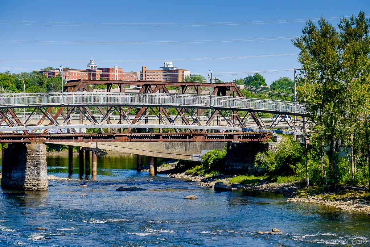 Three bridges across a river in Sherbrooke OLNEY Photographe
