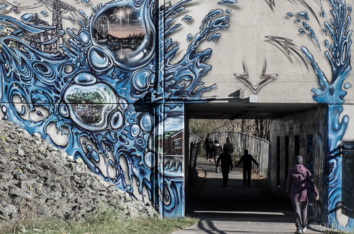 Tunnel piétonnier à Sherbrooke QC OLNEY Photographe