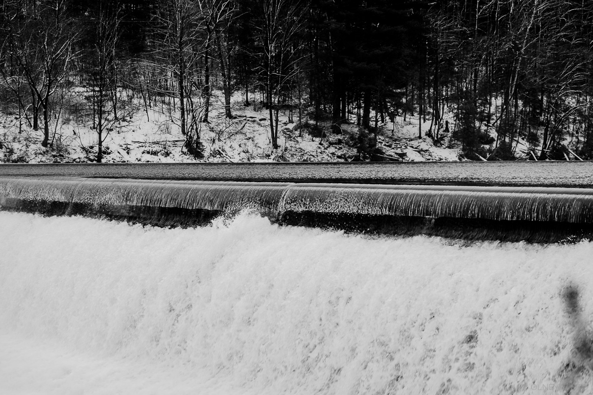 Barrage de la rivière Magog en hiver OLNEY Photographe Sherbrooke
