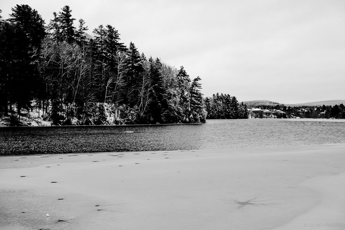La rivière Magog à Sherbrooke QC en hiver OLNEY Photographe