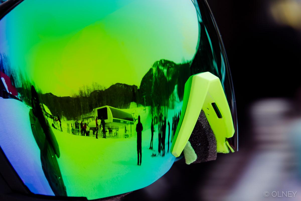 Reflection in ski goggles olney photographe sherbrooke