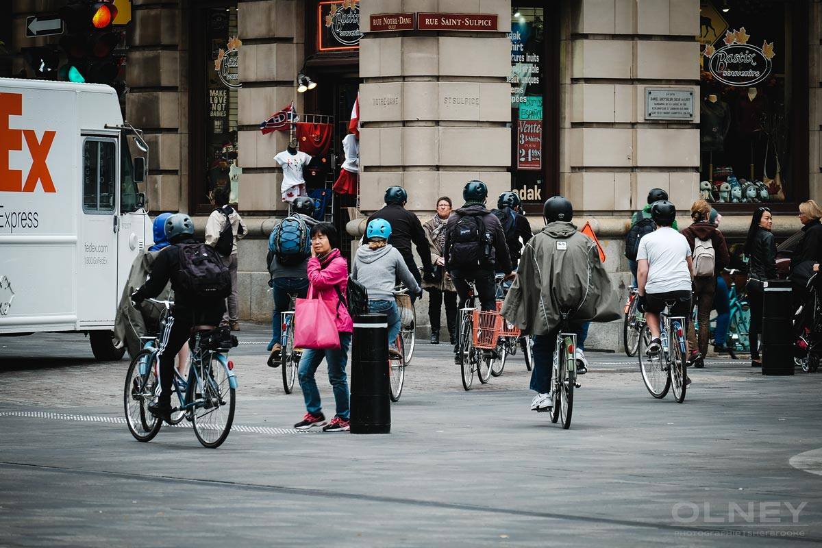 Guided tour of Old Montreal on bicycles