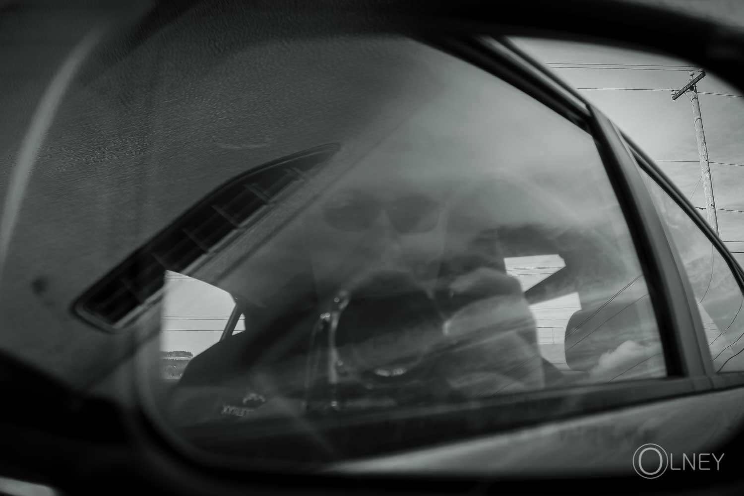 self in rear-view mirror