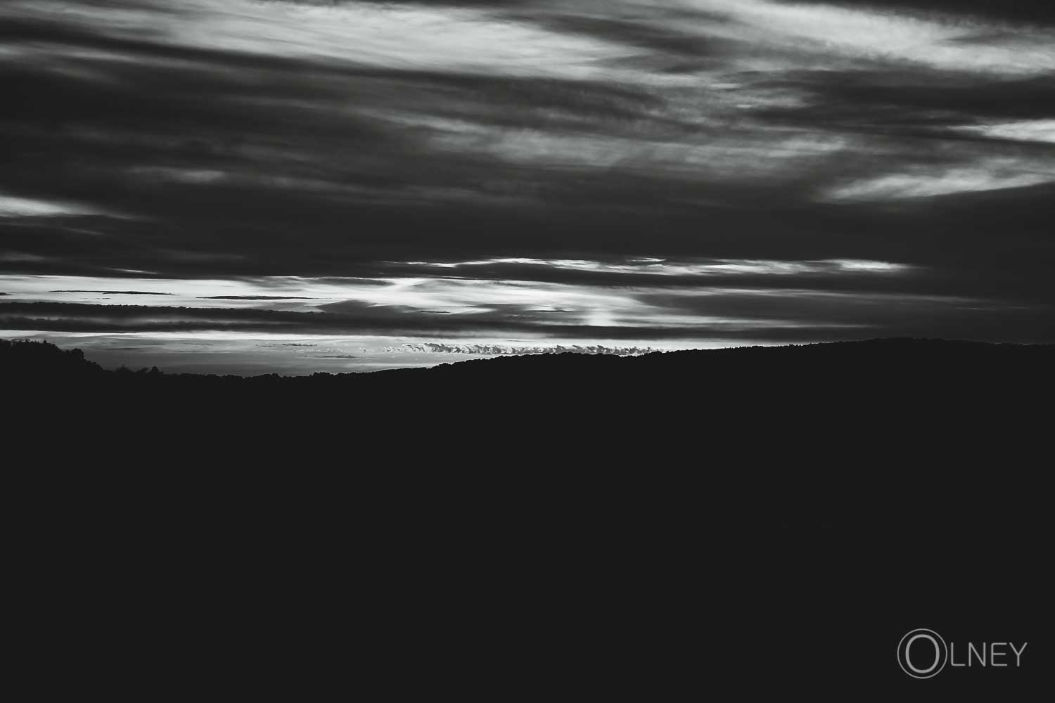 black and white sunset over saint-malo QC