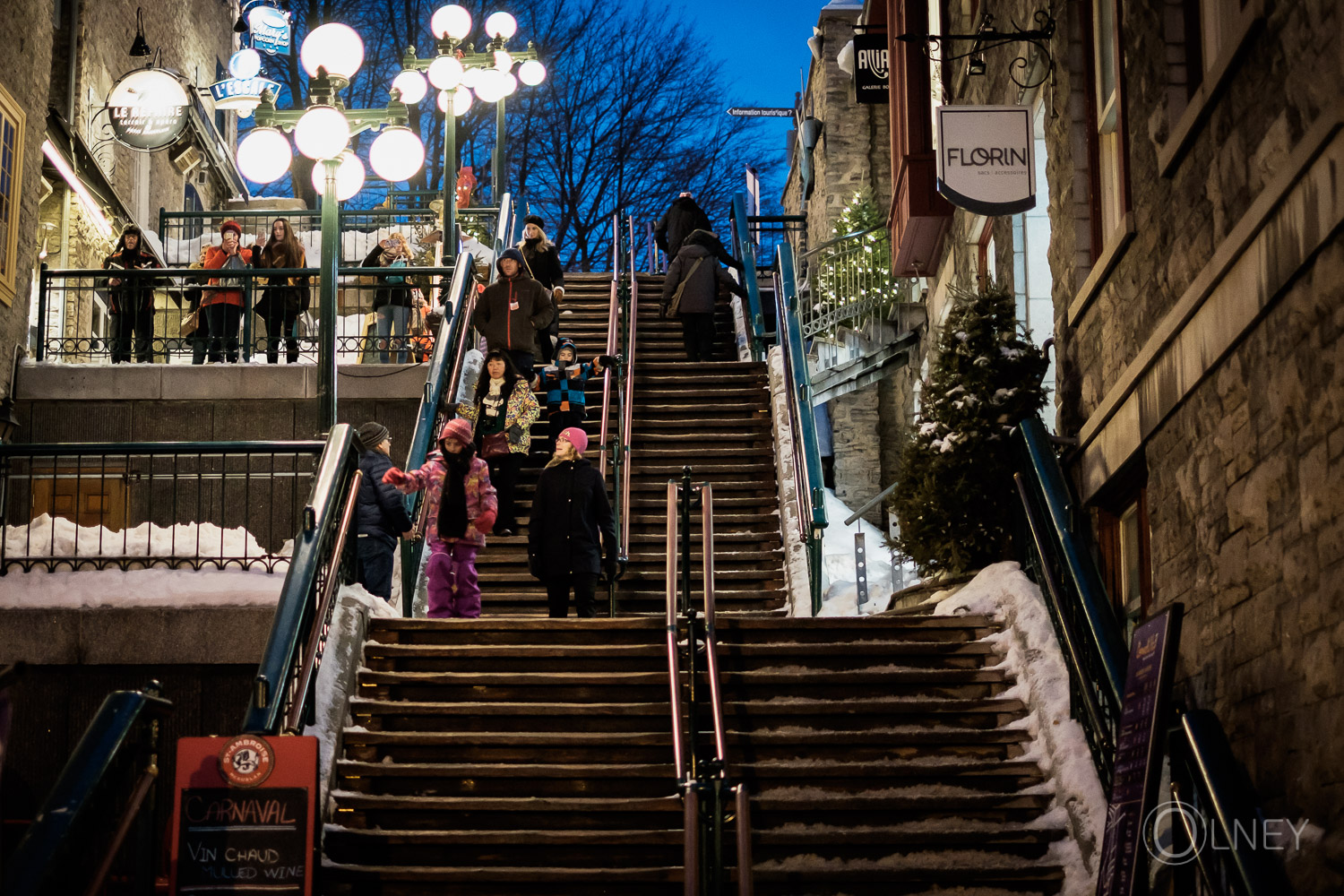 Casse-cou stairway leading to Petit Champlain in quebec city