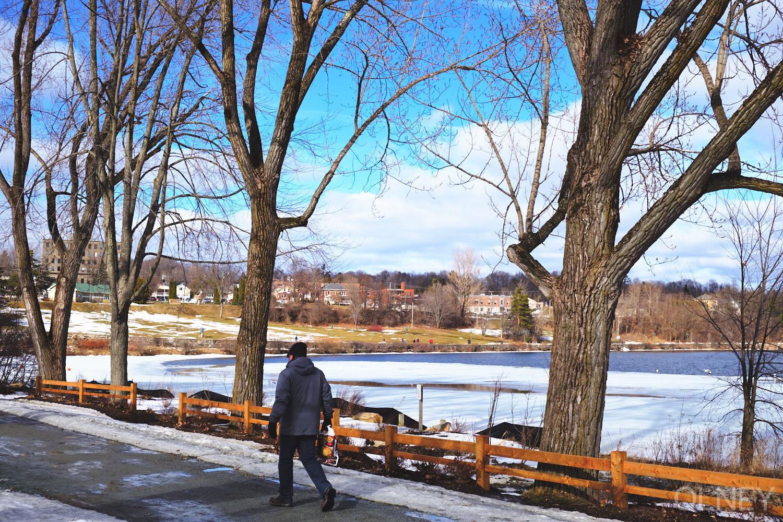 promenade in Parc Jacques-Cartier, Sherbrooke