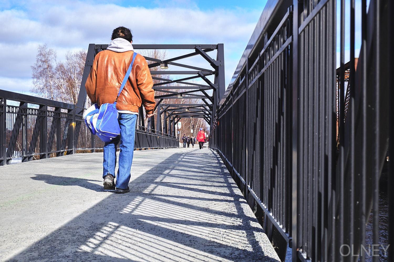 Pont piétonnier au Parc Jacques-Cartier, Sherbrooke QC