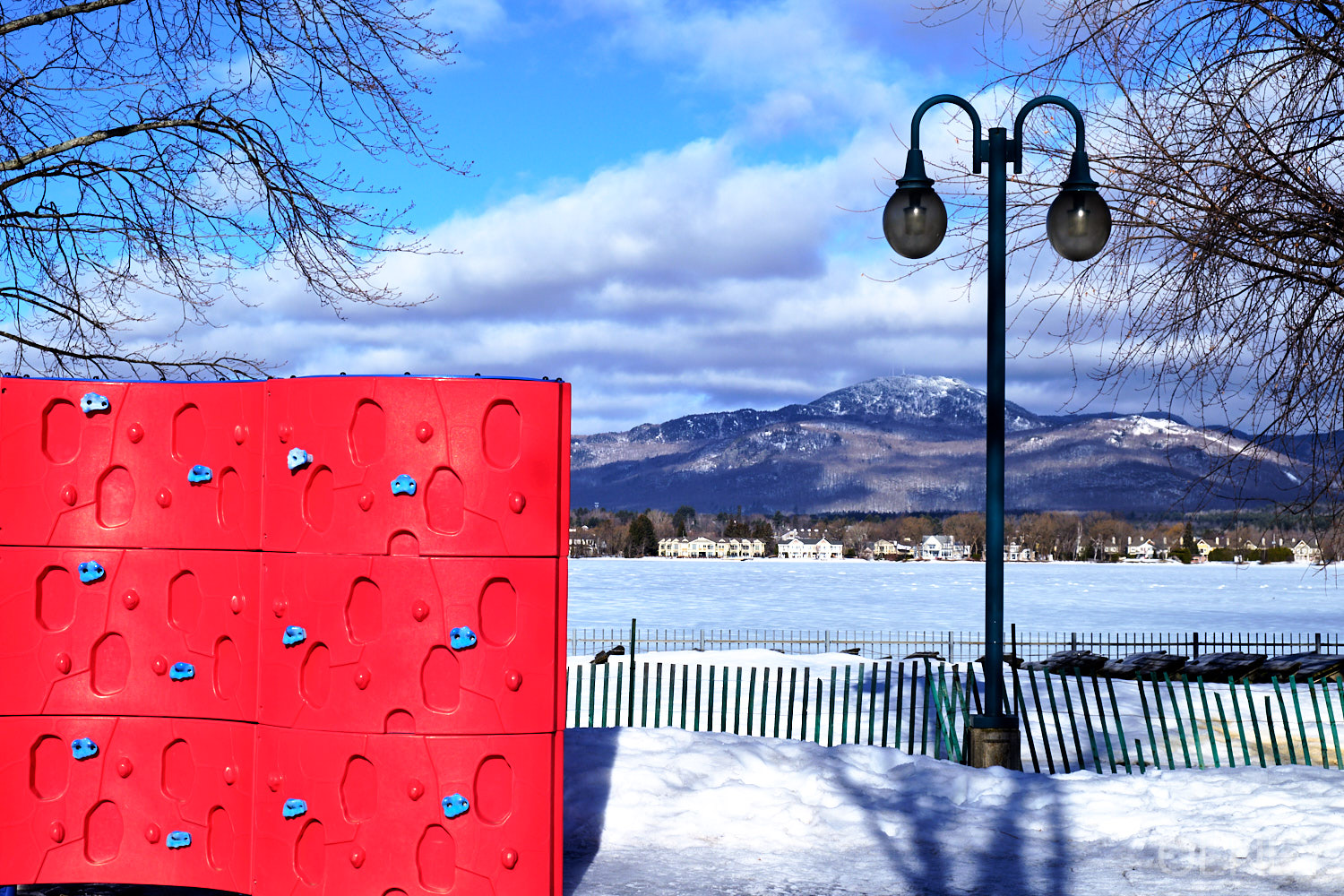 Mount Orford from a playground in Magog QC