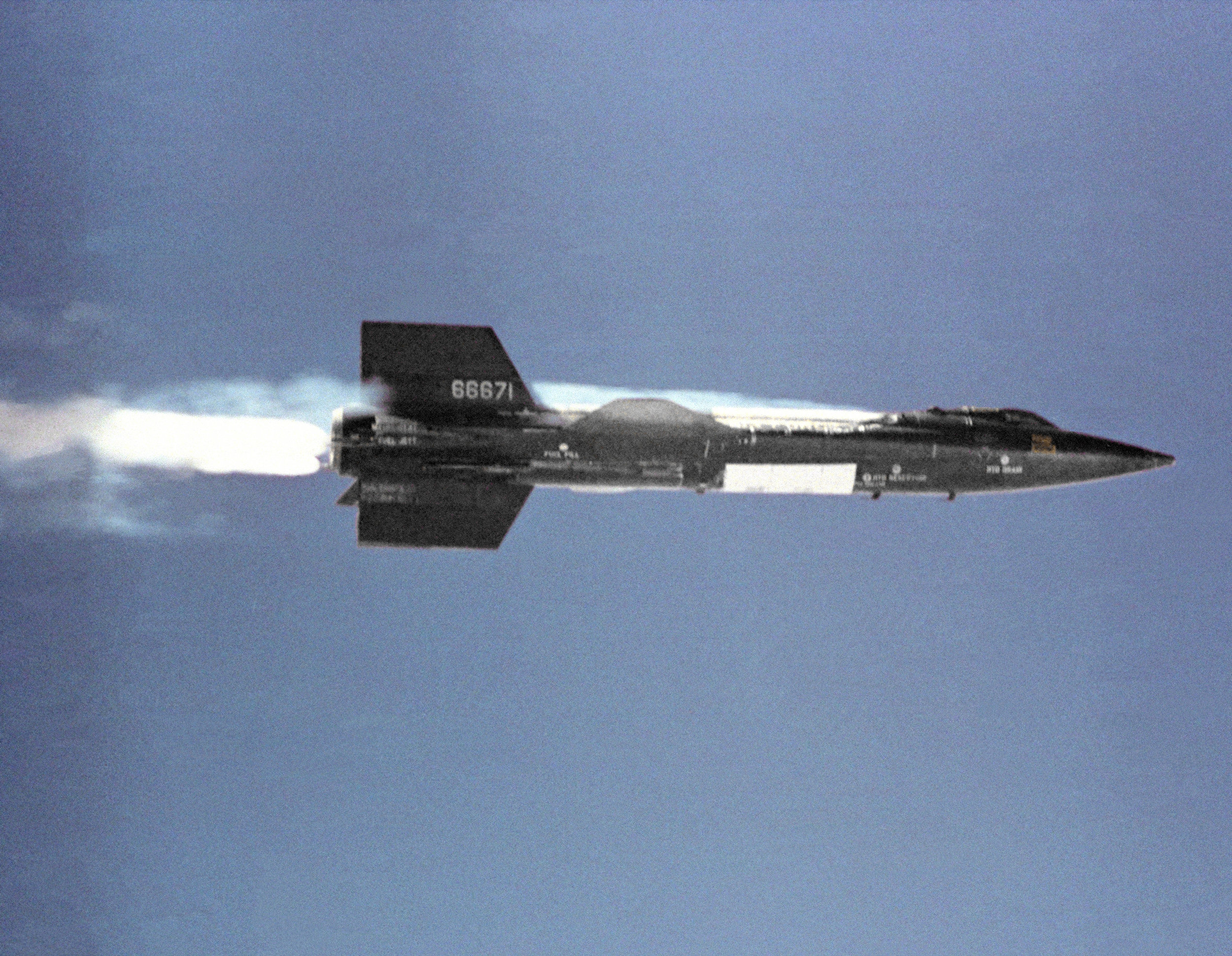 X-15, rocket powered  plane traveling at hypersonic speeds