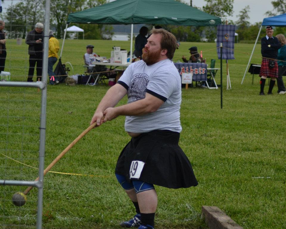 Mike throwing Scottish Hammer at the 2012 Southern Maryland Highland Games