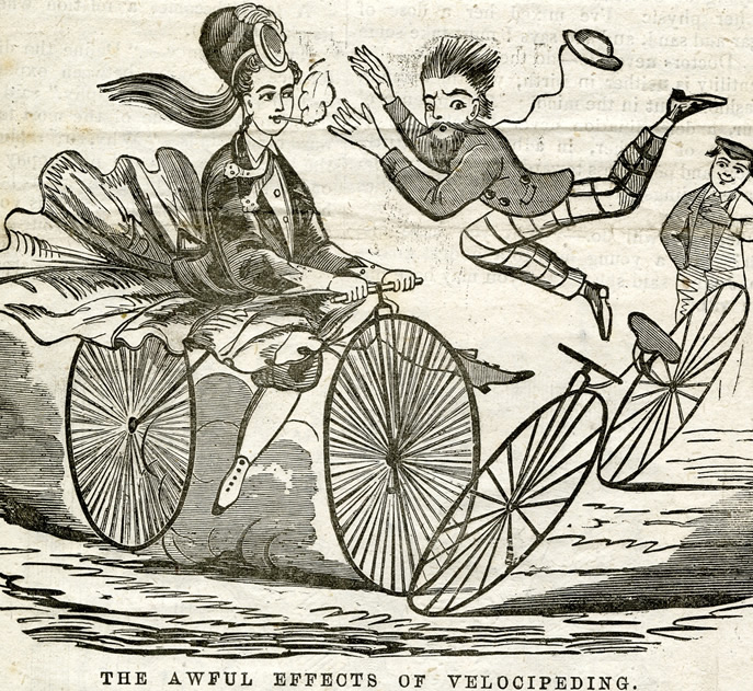 Worries of the era, c. 1885  Courtesy of bikesandbloomers.com