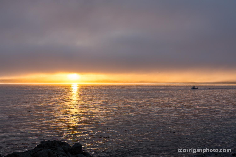 Sunrise at Monterey Bay