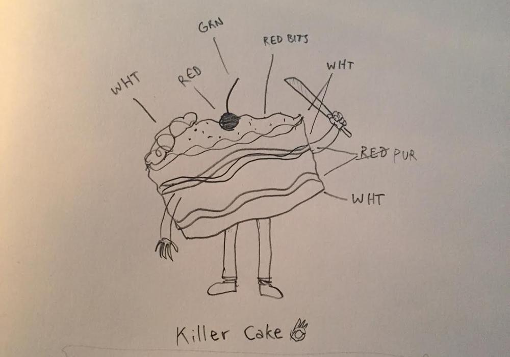 killer cake sketch