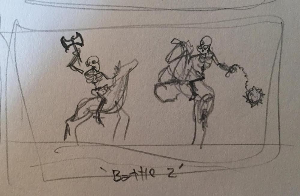 battle sketch