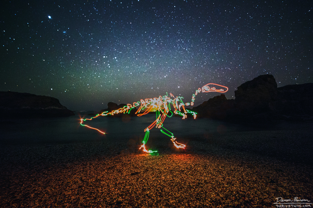 glass beach dino