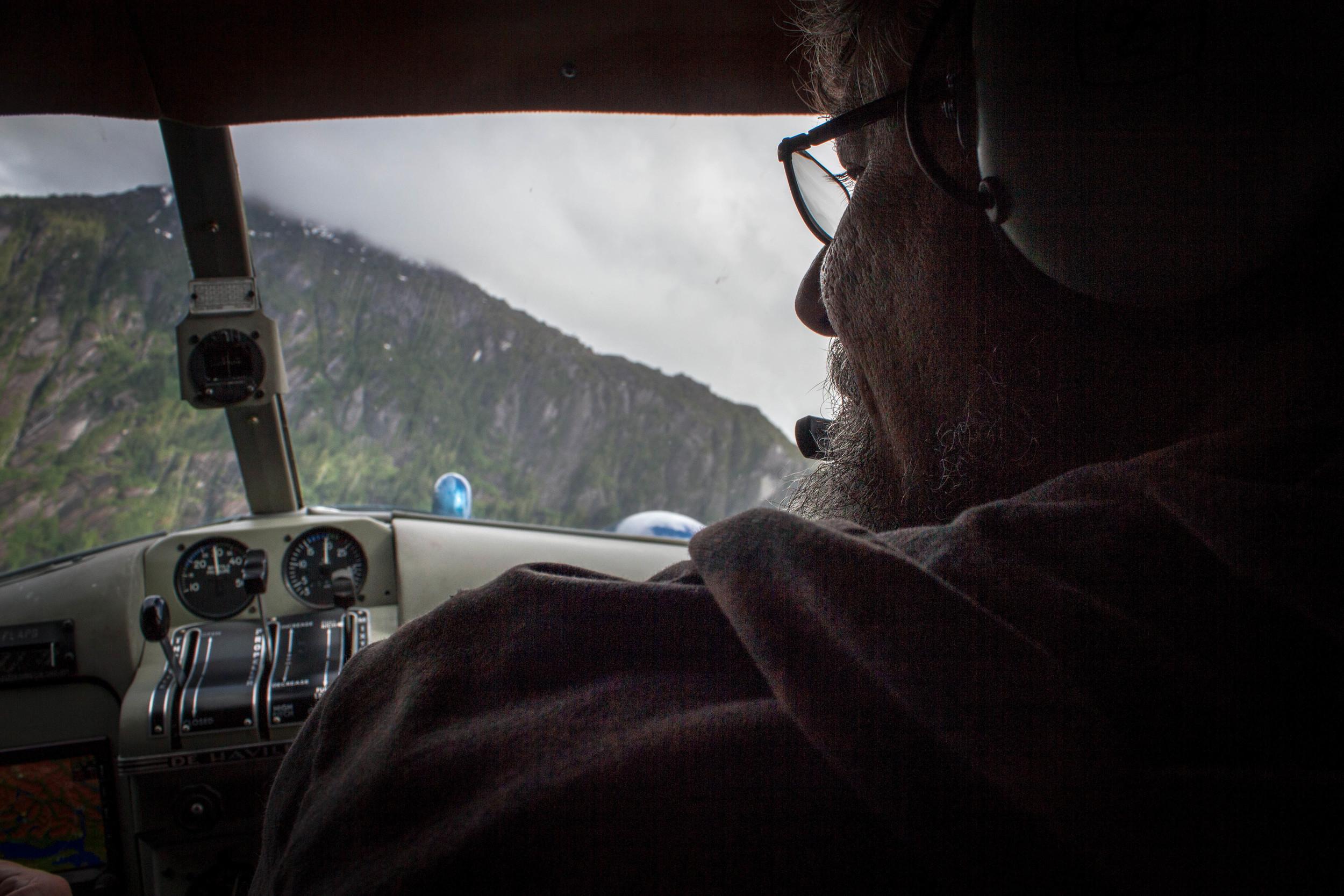 Flying over   Misty Fjords  National Monument, Alaska