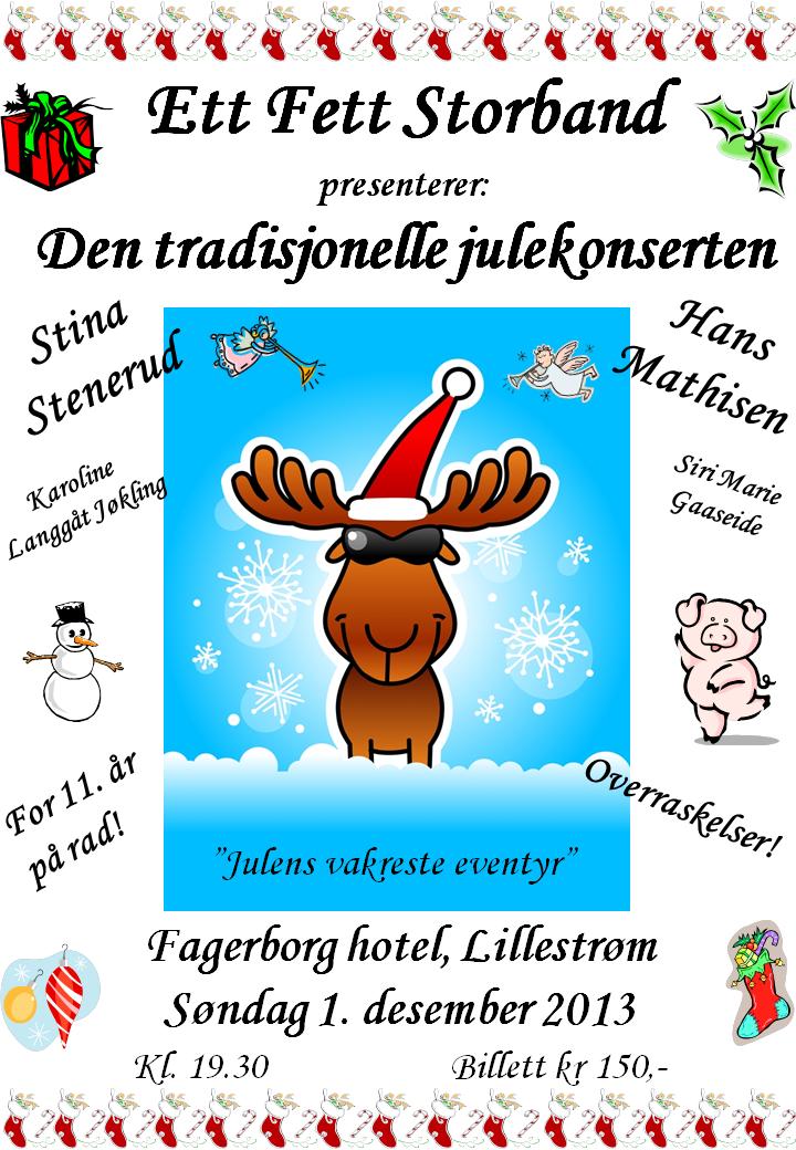 Julekonsert plakat 2013