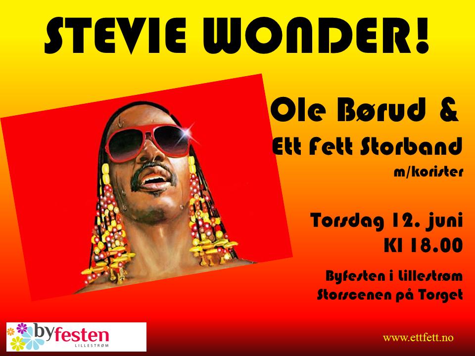 Stevie Wonder plakat