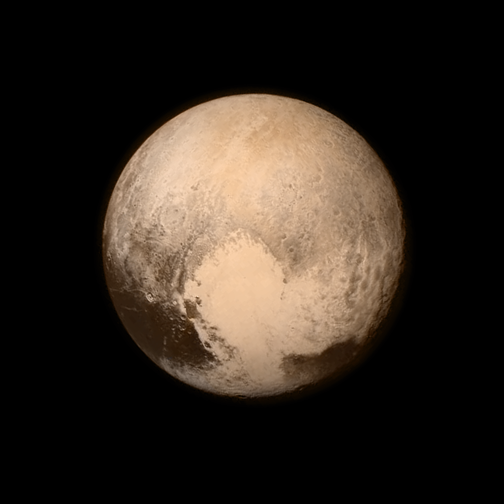 Newly released image of Pluto from the New Horizons space probe