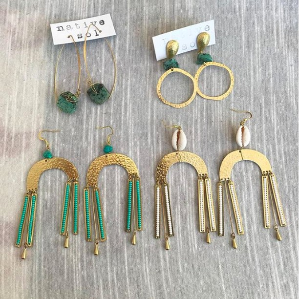 Such beautiful, handmade pieces from @nativesol ✨ Pick up some of your very own at the Vegan Faire TOMORROW! 📸: @nativesol . . . #veganbusiness #veganshopping #veganjewelry #govegan #veganearrings #jewelry #veganfaire #veganfestival #veganretail