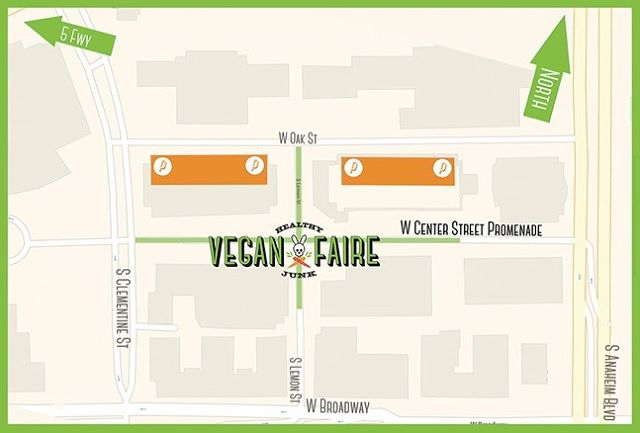Who's ready for #VeganFaire2019 today from 4pm to 10pm?! If you're en route to listen to cultural sounds and fill your tummy with delicious eats, please see the above parking graphic. You have to enter the paid parking lots from Oak street since Center Street Promenade will be inaccessible. There is also FREE parking across Anaheim BLVD behind City Hall, enter through Broadway. You can also look into @frantasticride an on-demand system of electric vehicles serving Anaheim's downtown area known as CtrCity. All rides are free and #FRANtastic!