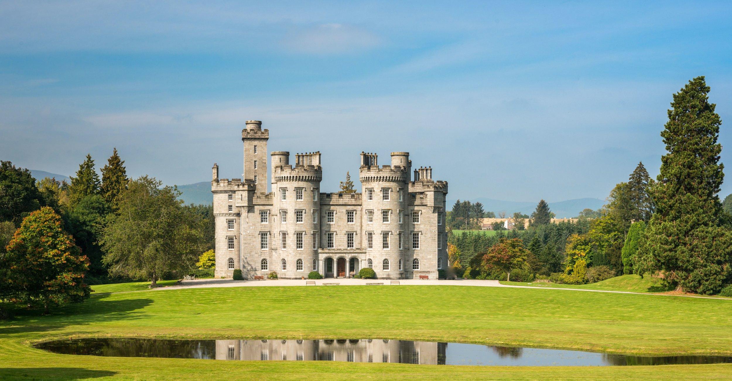 Cluny Castle exterior scotland