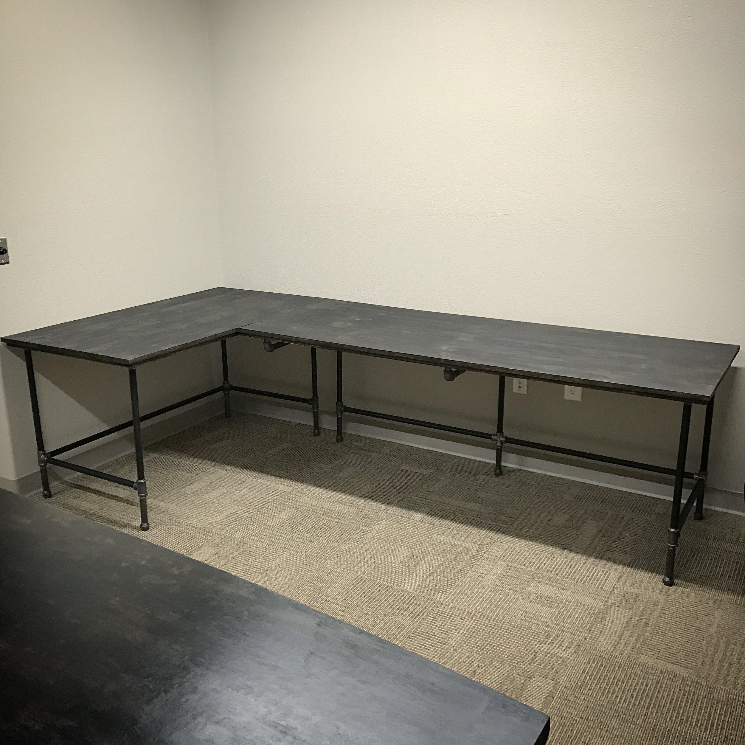 Wayne L-shaped Corner Desk Large