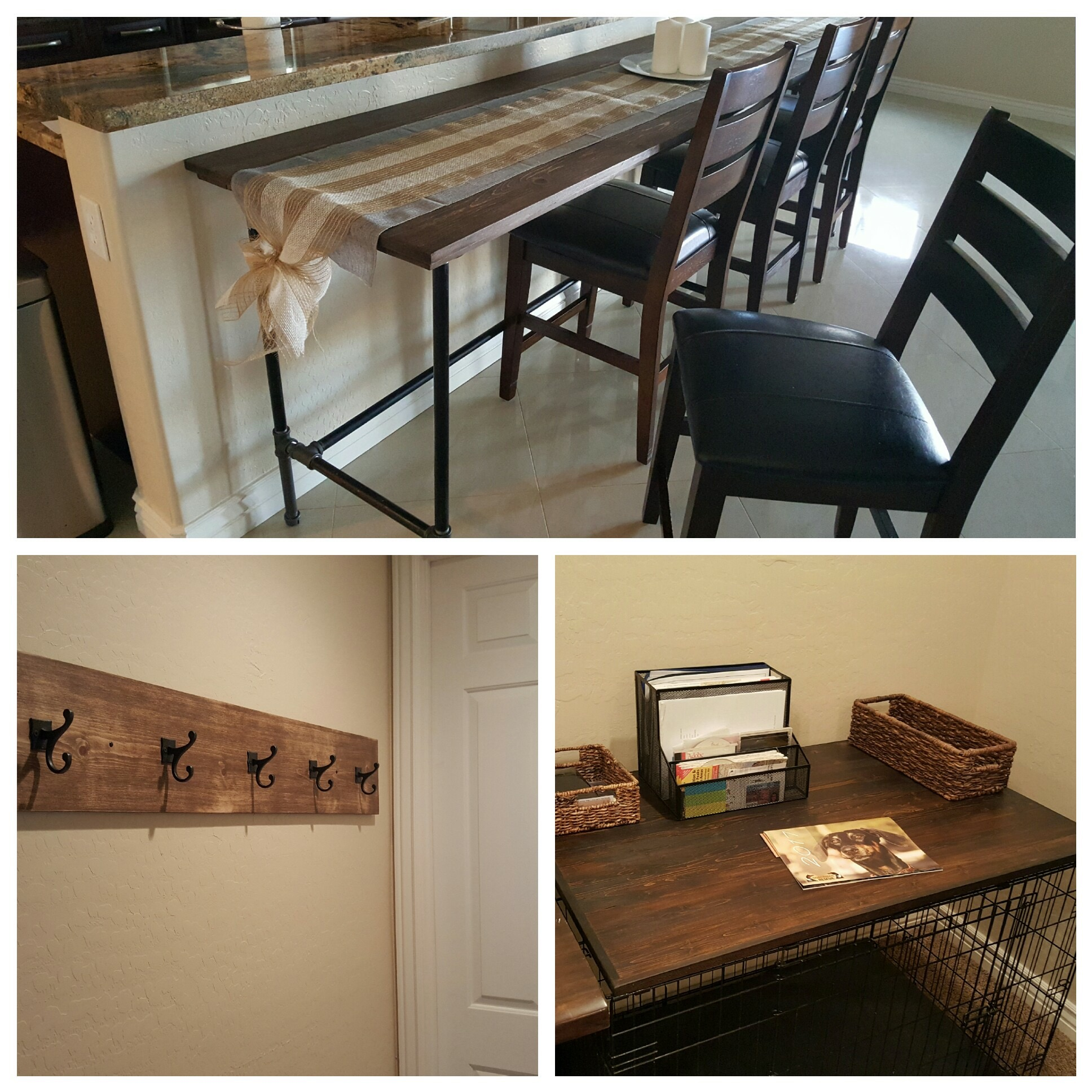 Wayne Counter Table, Coat Rack, and Dog Kennel Cover
