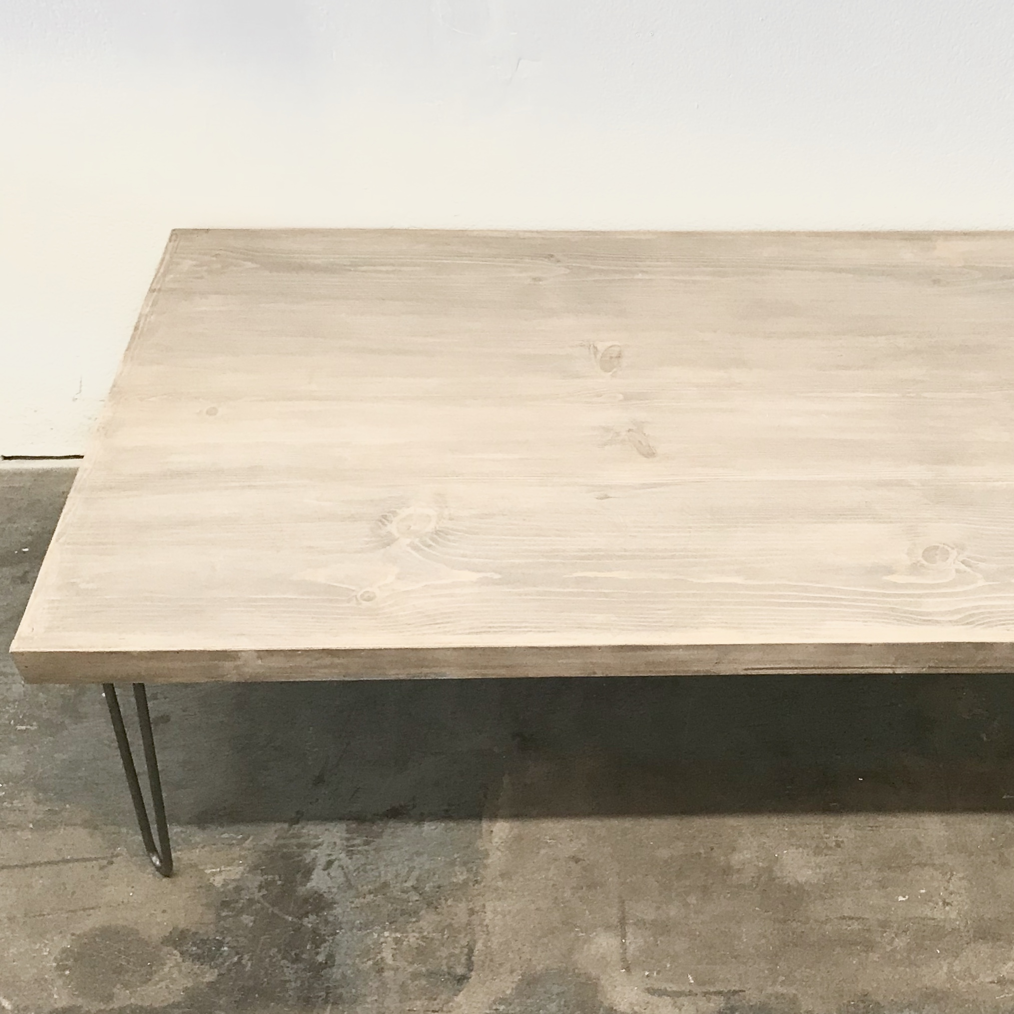 "Christina Coffee Table 60"" with Hairpin Legs"