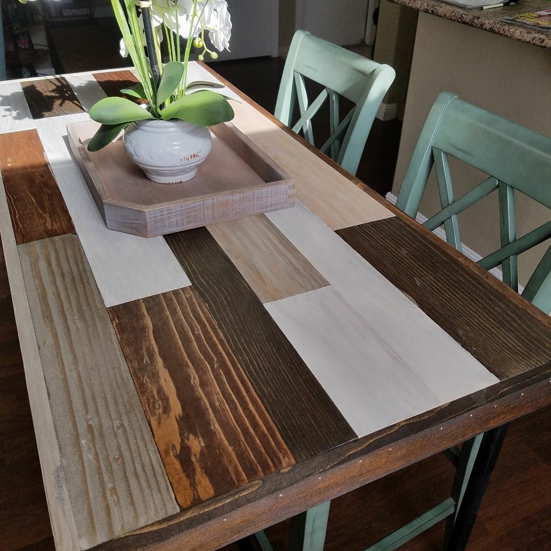 Custom Dining Table multiple wood finishes