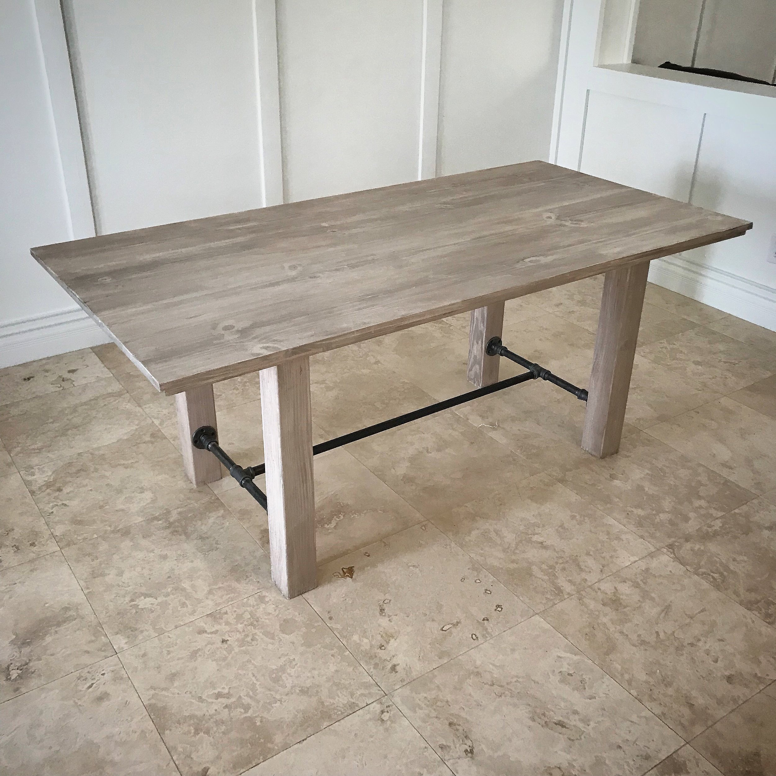Wayne Dining Table with Wood Poster Legs