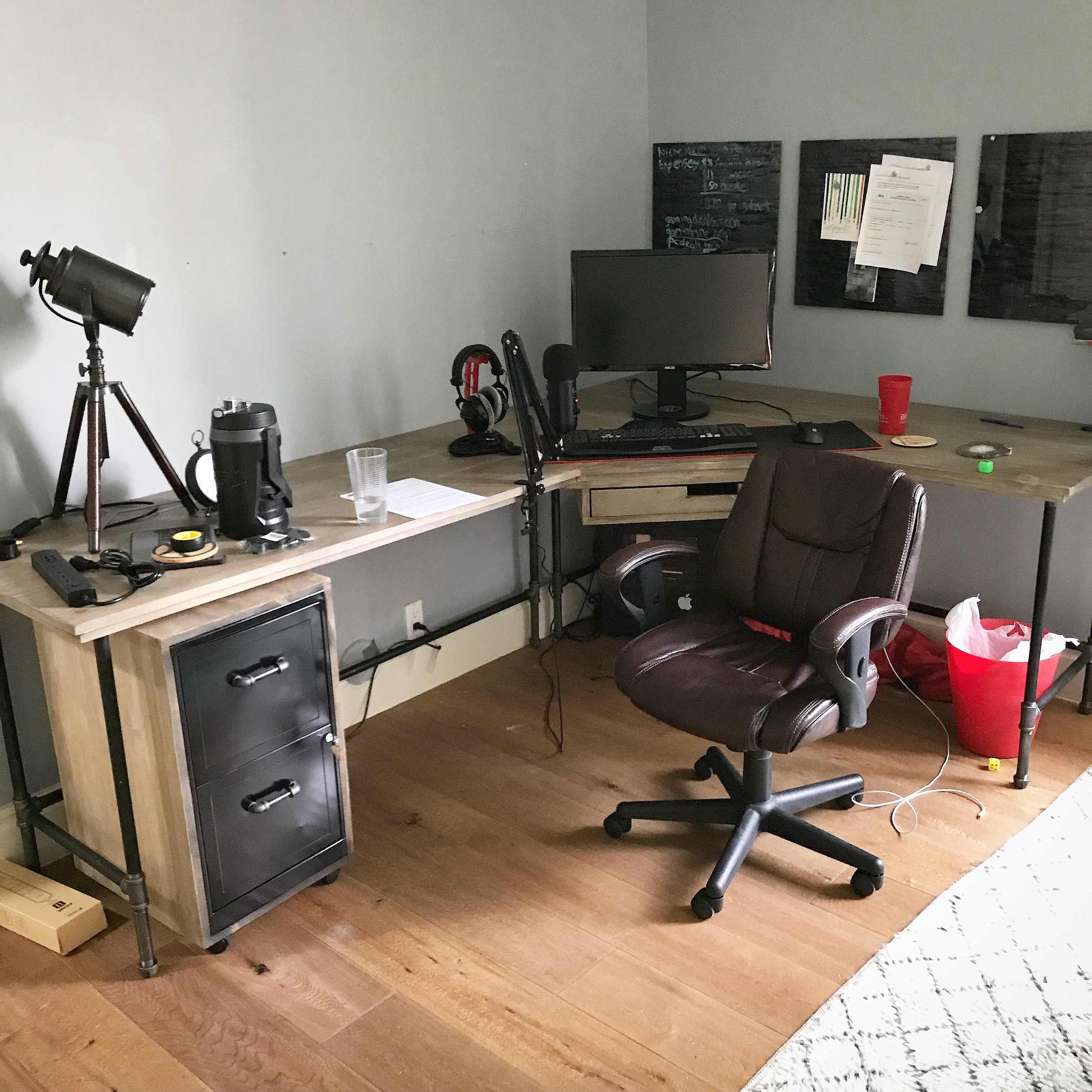 Wayne Corner Desk with matching Ira File Cabinet